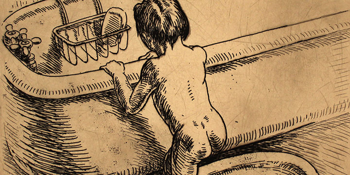 Grant Reynard, The Bath (sketch), graphite, n.d., 1982.26.0099