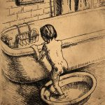 Grant Reynard, The Bath (sketch), graphite, n.d., 1982.26.0099