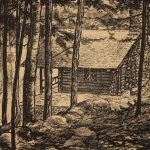 Grant Reynard, MacDowell's Cabin-To Grace Palmer, 1935, lithograph, n.d.