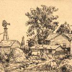 Grant Reynard, Nebraska Farm, etching, n.d.