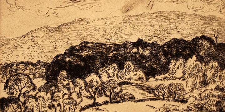 Grant Reynard, Cornwall Farms, etching (/75), n.d.