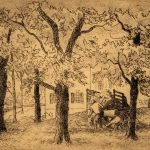 Grant Reynard, Gathering Leaves, etching, n.d.