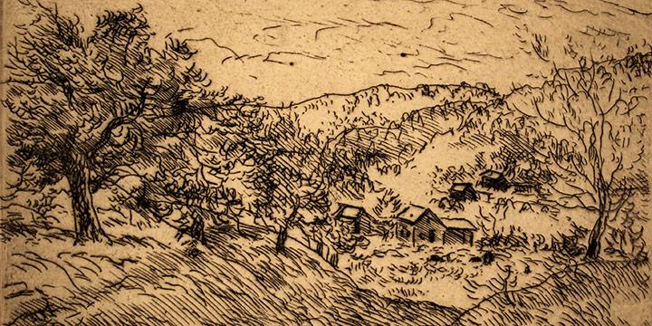Grant Reynard, In the Valley, etching, n.d.