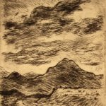 Grant Reynard, Mountains, Ft. Garland, Colorado, etching, n.d.