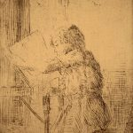 Grant Reynard, Child Reading, etching (1st state), n.d.