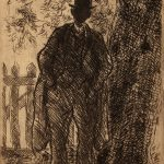 Grant Reynard, Negro Under the Tree, etching, n.d.