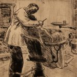 Grant Reynard, The Dentist, etching, n.d.