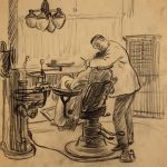 Grant Reynard, The Dentist, graphite, n.d.