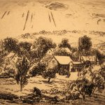 Grant Reynard, New Hampshire Field, etching, n.d.