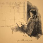 Grant Reynard, Mary at Window, lithograph, n.d.