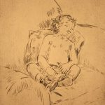 Grant Reynard, Child Sleeping, etching, n.d.