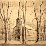 Grant Reynard, Wallace Chapel, Baldwin College, Berea, Ohio, etching, n.d.