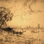 Grant Reynard, The Seine at Poissy, France, etching (2/75), n.d.