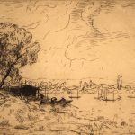 Grant Reynard, The Seine at Poissy, France, etching, n.d.