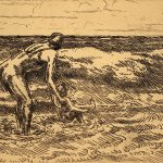 Grant Reynard, Untitled (Beach Scene, mother, child), n.d.