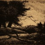Grant Reynard, Dark Evening, etching, n.d.