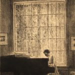 Grant Reynard, Woman at Piano, etching, 2nd state, n.d.
