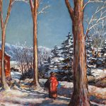 Grant Reynard, A Winter's Walk, watercolor, n.d.
