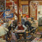 Grant Reynard, Art at Millbrook, oil on board, c. 1943