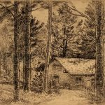 Grant Reynard, Edwin Arlington Robinson's Studio, etching, n.d.