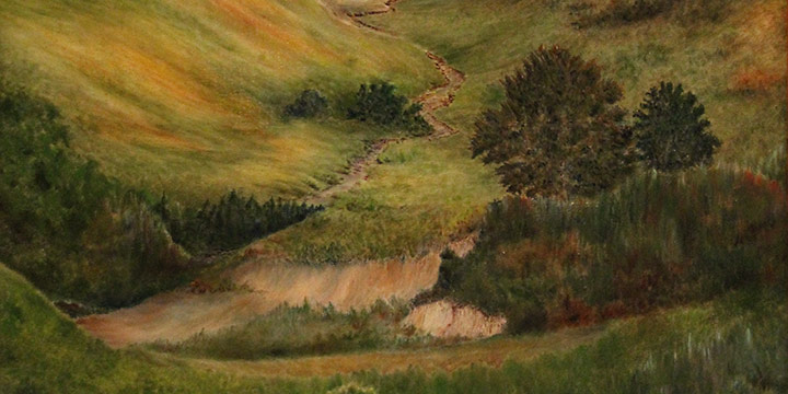 George Clement, Nebraska Hills, oil on linen, n.d.