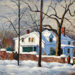 Grant Reynard, Untitled (winter landscape with house), oil on canvas, n.d., 19¾ × 25¾""