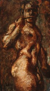 Emery Abraham (Donald) Forbes, Standing Male Nude (Ralph), oil, 1937