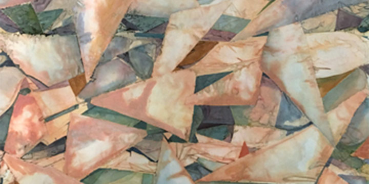 Dona Lee Golden, Floating Triangles, mixed media, c. 1991