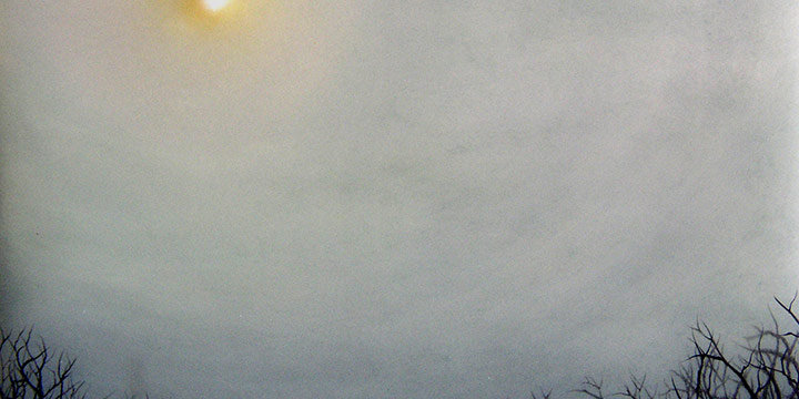 "Maggie Tobin, Fontenelle, oil on vellum over mirror, 2007, 10½ × 12½"""