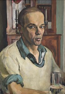 Leonard Thiessen, Self-Portrait, oil on canvas, 1937, Loan from Asher Wallis