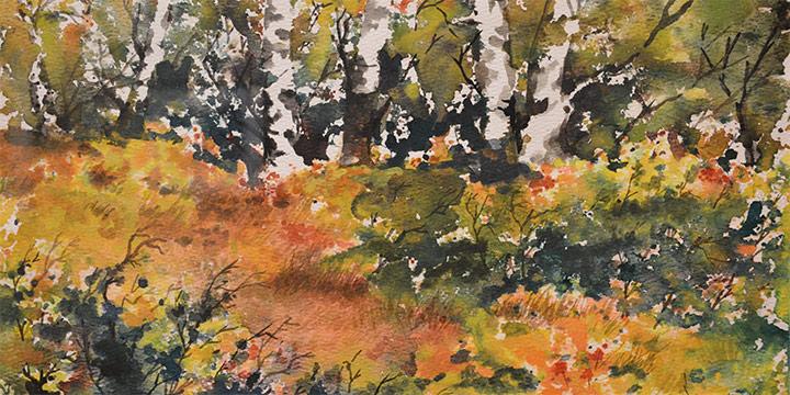 Kern Harshbarger, Fall Fling, Watercolor, n.d.