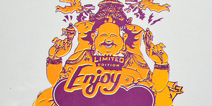 Dan May, Enjoy Wearing Idols, Screen Print, 2011