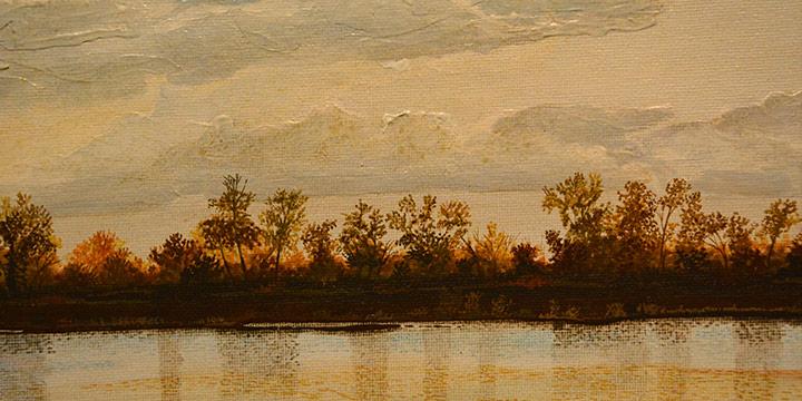 Gary Zaruba, Fall Reflections, Acrylic, n.d.
