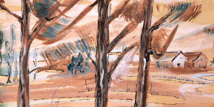Gladys Rose, Untitled (landscape), watercolor on paper, 1996