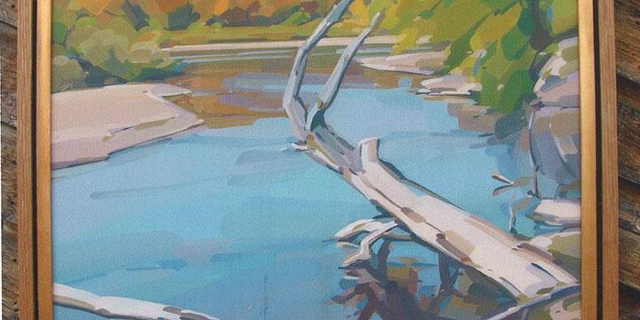 Mick Shimonek, Castaways, oil, n.d., 37¼ × 29¼