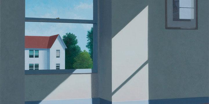 "Merrill Peterson, Mrs. Brinton's House, Oil, 18 × 18"""