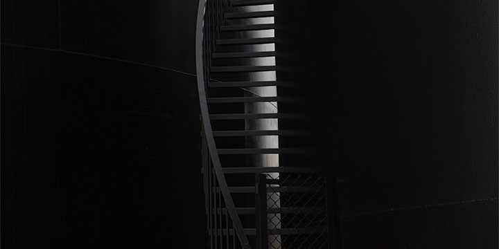 Paul Brokering, Black Stair, McCook, NE, NE, archival inkjet print, 2017, 20 × 17