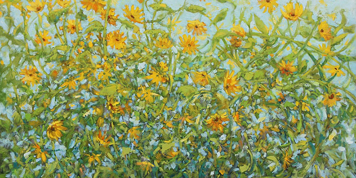 Patty Scarborough, Sunnies, oil, 2018, 30 × 40