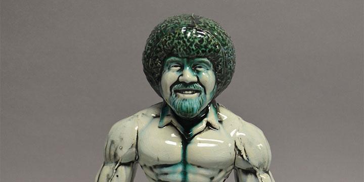 Bart Vargas, Smash Bob, slip cast ceramic, 2019, 14 × 10 × 6