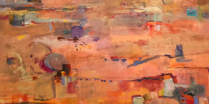 Ann Pape, Time. Suspended, oil, 2019, 36 × 48