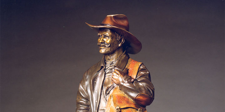 Mark Lundeen, The Boss (#11/99), bronze, 2019, 32 × 14