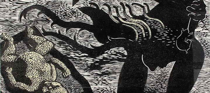 Nancy Edell, Pangnirtung, woodcut (AP), n.d.