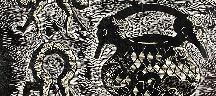 Nancy Edell, Pangnirtung II, woodcut (AP), n.d.