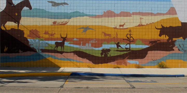 Derrick Burbul, Mural: Torrington, Wyoming, Archival Ink Jet Print, 2008