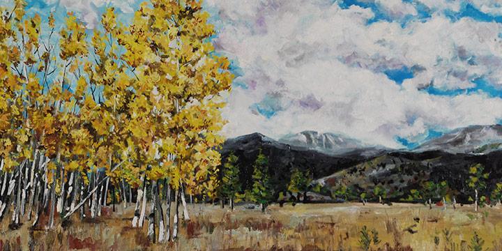 Doug Waterfield, Aspens in Colorado, Oil on canvas, 2020