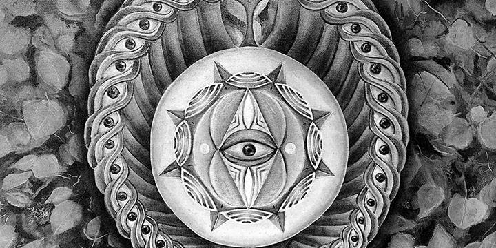 Angelica Tapia, Mind's Eye: Rebirth, intaglio & watercolor on paper, 2021