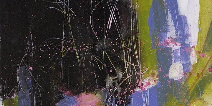 Pat Jones, It Started as a Redbud, Acrylic & Pencil, 2021