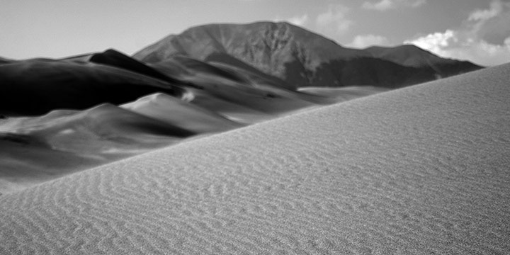 Richard Schuessler, River of Sand, digital print on paper, 2021