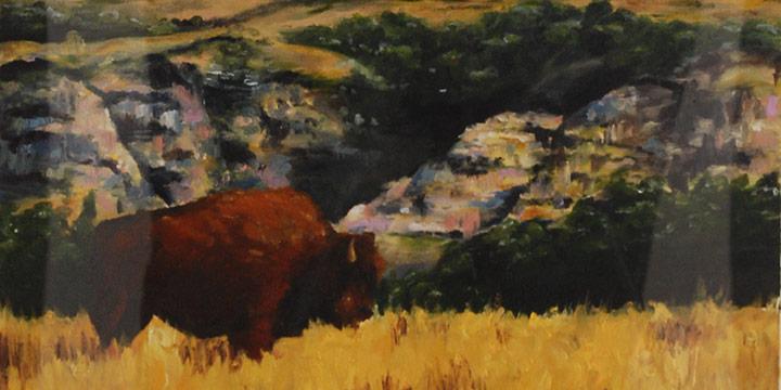 Jaden Estes, Buffalo, Acrylic, 2017
